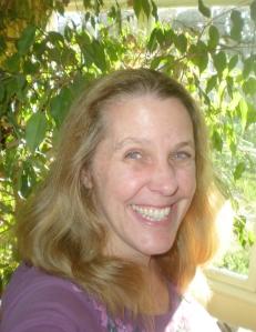 Cynthia Sue Larson with her ficus tree