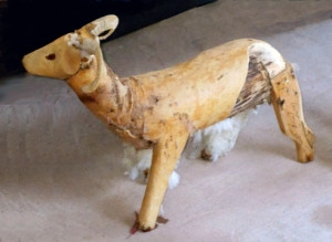 intriguing goat sculpture