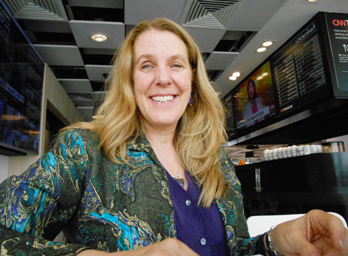 Cynthia Sue Lars at Abu Dhabi International Airport